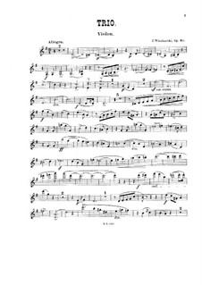 Piano Trio in G Major, Op.40: Parts by Józef Wieniawski