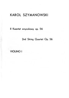 String Quartet No.2, Op.56: Parts by Karol Szymanowski