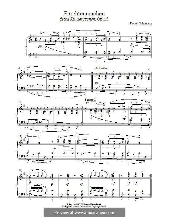 No.11 Fürchtenmachen (Frightening): For piano by Robert Schumann