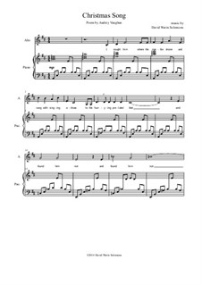 Christmas Song: For alto (or baritone) and piano by David W Solomons