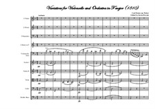 Variations for Cello and Orchestra in F Major, J.94: Full score, parts by Carl Maria von Weber