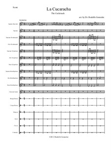 La Cucaracha (The Cockroach): For orff ensemble by folklore