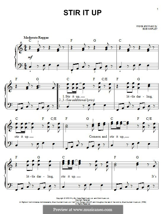 Stir It Up: For piano by Bob Marley