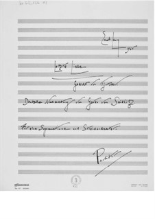 The Last Love for Soprano and String Orchestra: Full score by Ernst Levy