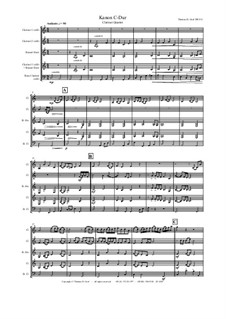 Kanon C-Dur: For clarinet quartet by Thomas Hans Graf