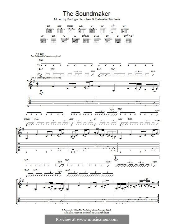 The Soundmaker: For guitar with tab by Gabriela Quintero, Rodrigo Sánchez
