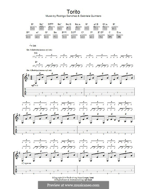 Torito: For guitar with tab by Gabriela Quintero, Rodrigo Sánchez