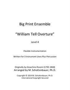 Overture: For flexible instrumentation by Gioacchino Rossini