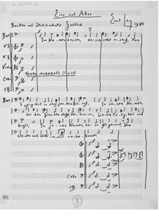Eins und Alles for Baritone and String Orchestra: Full score by Ernst Levy