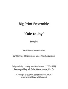 Ode to Joy: Version for flexible instrumentation by Ludwig van Beethoven