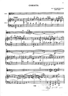 Sonata for Viola and Piano in C Minor: Score for two performers by Felix Mendelssohn-Bartholdy