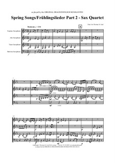 Spring Songs. Part 2: For saxophone quartet by folklore
