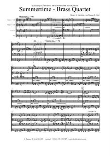 Summertime: For brass quartet by George Gershwin