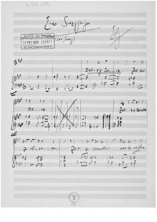 Einem Siebzigjährigen for Voice and Piano: Einem Siebzigjährigen for Voice and Piano by Ernst Levy