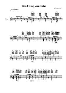 Good King Wenceslas: For guitar by Unknown (works before 1850)