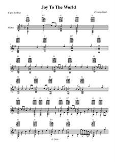 Joy to the World: For guitar by Georg Friedrich Händel