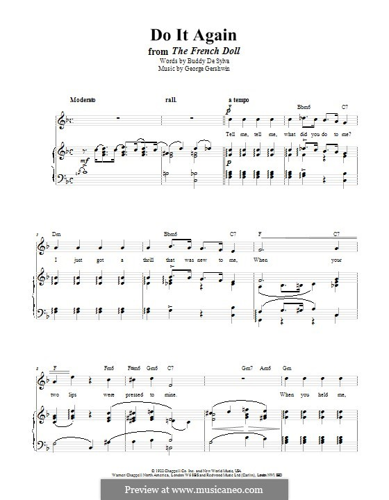 Do it Again: For voice and piano (or guitar) by George Gershwin