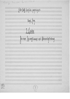 Three Songs for Soprano Solo and Piano: Piano-vocal score by Ernst Levy