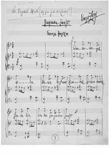 Singende Zunft for Voice and Piano: Singende Zunft for Voice and Piano by Ernst Levy