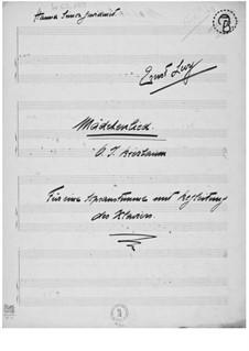Mädchenlied for Soprano Solo and Piano: Mädchenlied for Soprano Solo and Piano by Ernst Levy