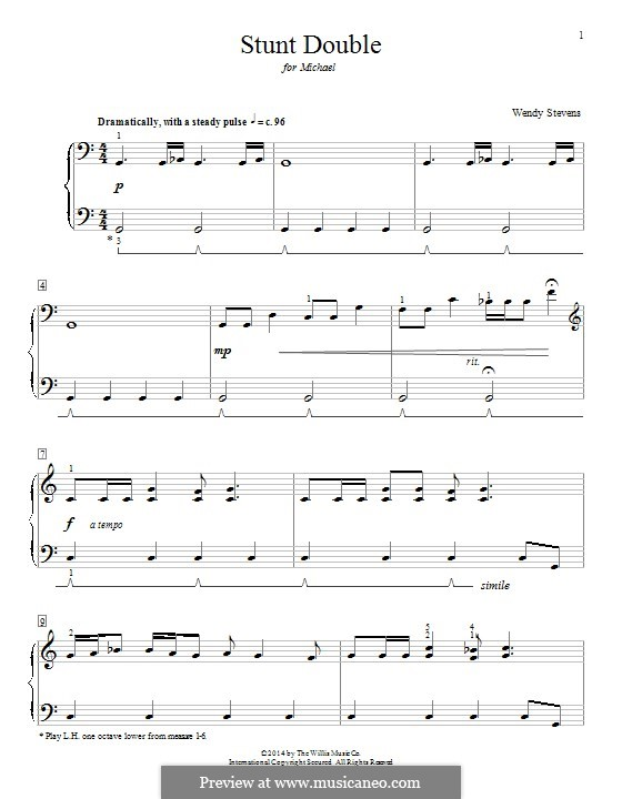 Stunt Double: For piano by Wendy Stevens