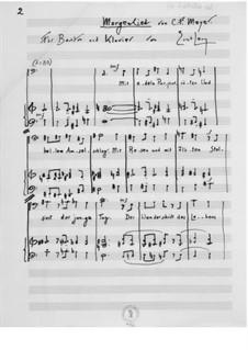 Morgenlied for Baritone and Piano: Morgenlied for Baritone and Piano by Ernst Levy
