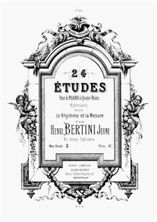24 Études Speciale pour Le Rhytme et la Mesure pour le piano à Quatre Mains: Volume I, Op.posth. 5 by Henri Jérôme Bertini