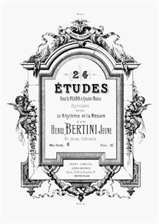 24 Études Speciale pour Le Rhytme et la Mesure pour le piano à Quatre Mains: Volume II, Op.posth. 6 by Henri Jérôme Bertini