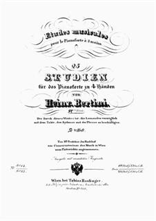 Études Musicales pour le pianoforte à 4 mains, Cah.2, Op.97: Études Musicales pour le pianoforte à 4 mains, Cah.2 by Henri Jérôme Bertini