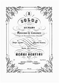 Morceaux de Concours, Op.167: No.1 Allegro Agitato by Henri Jérôme Bertini