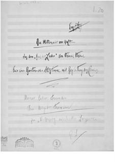 Die Mitternacht war kalt for Baritone or Contralto and Piano: Die Mitternacht war kalt for Baritone or Contralto and Piano by Ernst Levy