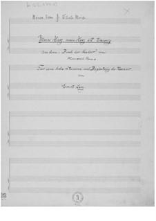 Mein Herz, mein Herz ist traurig for High Voice and Piano: Mein Herz, mein Herz ist traurig for High Voice and Piano by Ernst Levy
