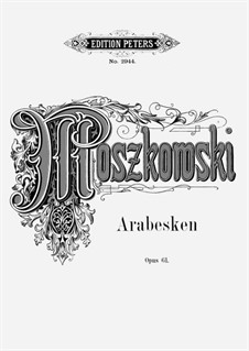 Three Arabesques, Op.61: For piano by Moritz Moszkowski