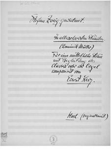 In allerschwersten Stunden for Medium Voice and Piano or Organ: In allerschwersten Stunden for Medium Voice and Piano or Organ by Ernst Levy