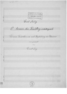 O komm, du Frühling maienzart for Tenor and Piano: O komm, du Frühling maienzart for Tenor and Piano by Ernst Levy
