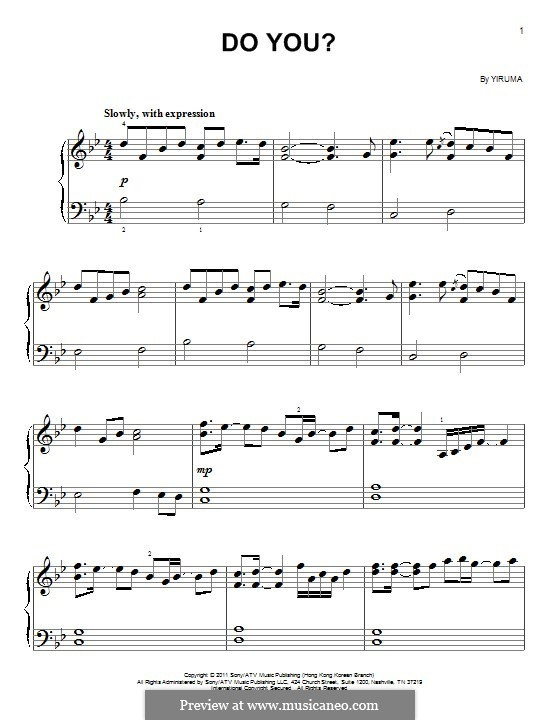 Do You?: For easy piano by Yiruma