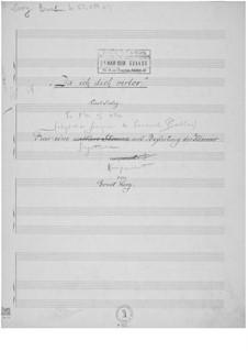 Da ich dich verlor for Voice and Piano: Da ich dich verlor for Voice and Piano by Ernst Levy