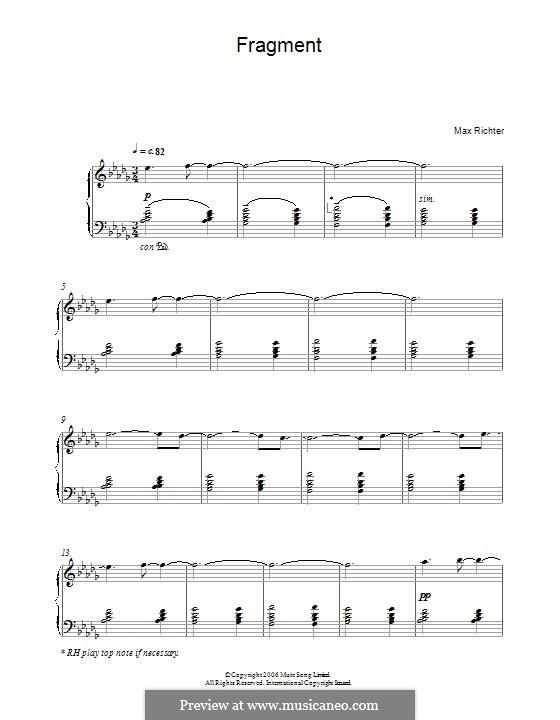 Fragment: For piano by Max Richter