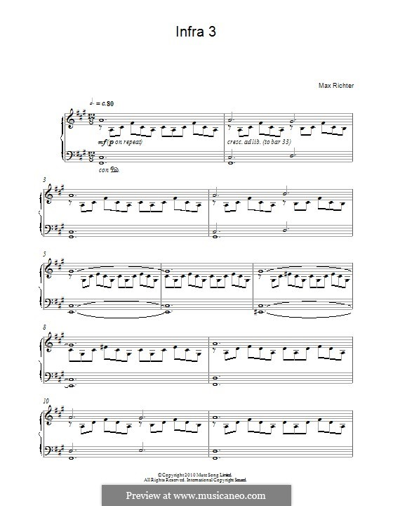 Infra 3: For piano by Max Richter