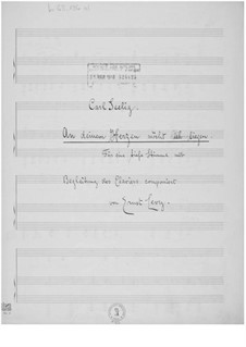 An deinem Herzen möcht ich liegen for Low Voice and Piano: An deinem Herzen möcht ich liegen for Low Voice and Piano by Ernst Levy