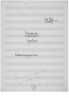 Je dis mon coeur for Baritone and Piano: Je dis mon coeur for Baritone and Piano by Ernst Levy