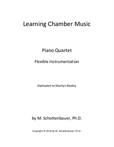 Learning Chamber Music: Piano quartet for flexible instrumentation by Michele Schottenbauer