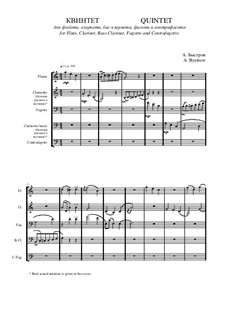 Quintet: Movement I – score I by Alexander Bystrov