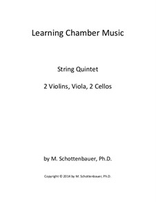 Learning Chamber Music: String quintet by Michele Schottenbauer