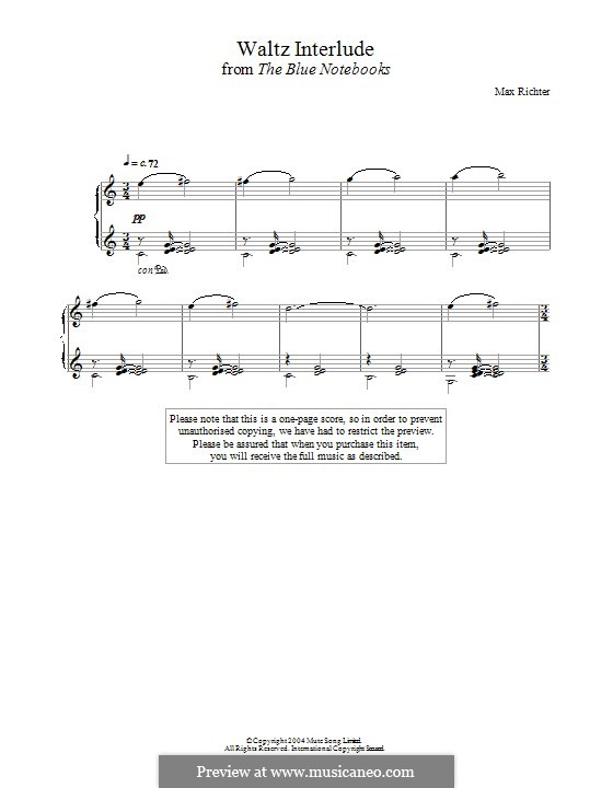 The Blue Notebooks: For piano by Max Richter