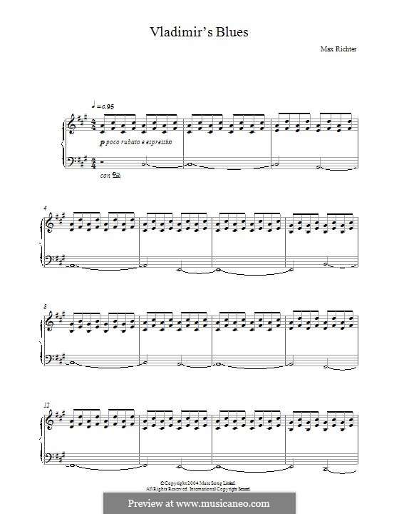 Vladimir's Blues: For piano by Max Richter