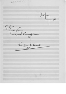 Suite for Orchestra No.3: Full score by Ernst Levy