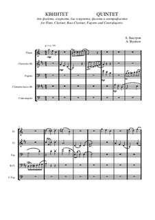 Quintet: Movement I – score II by Alexander Bystrov