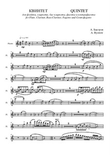 Quintet: Movement I – flute part by Alexander Bystrov