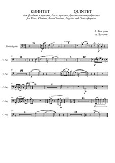 Quintet: Movement I – contrafagotto part by Alexander Bystrov